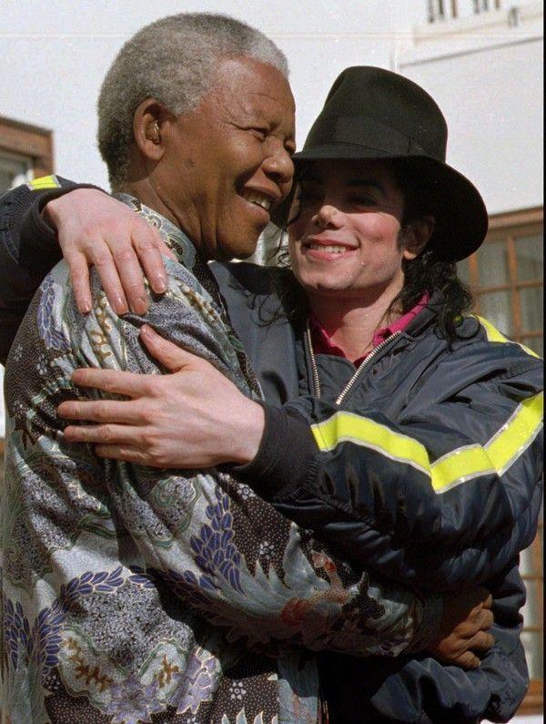 Michaël et Nelson Mandela